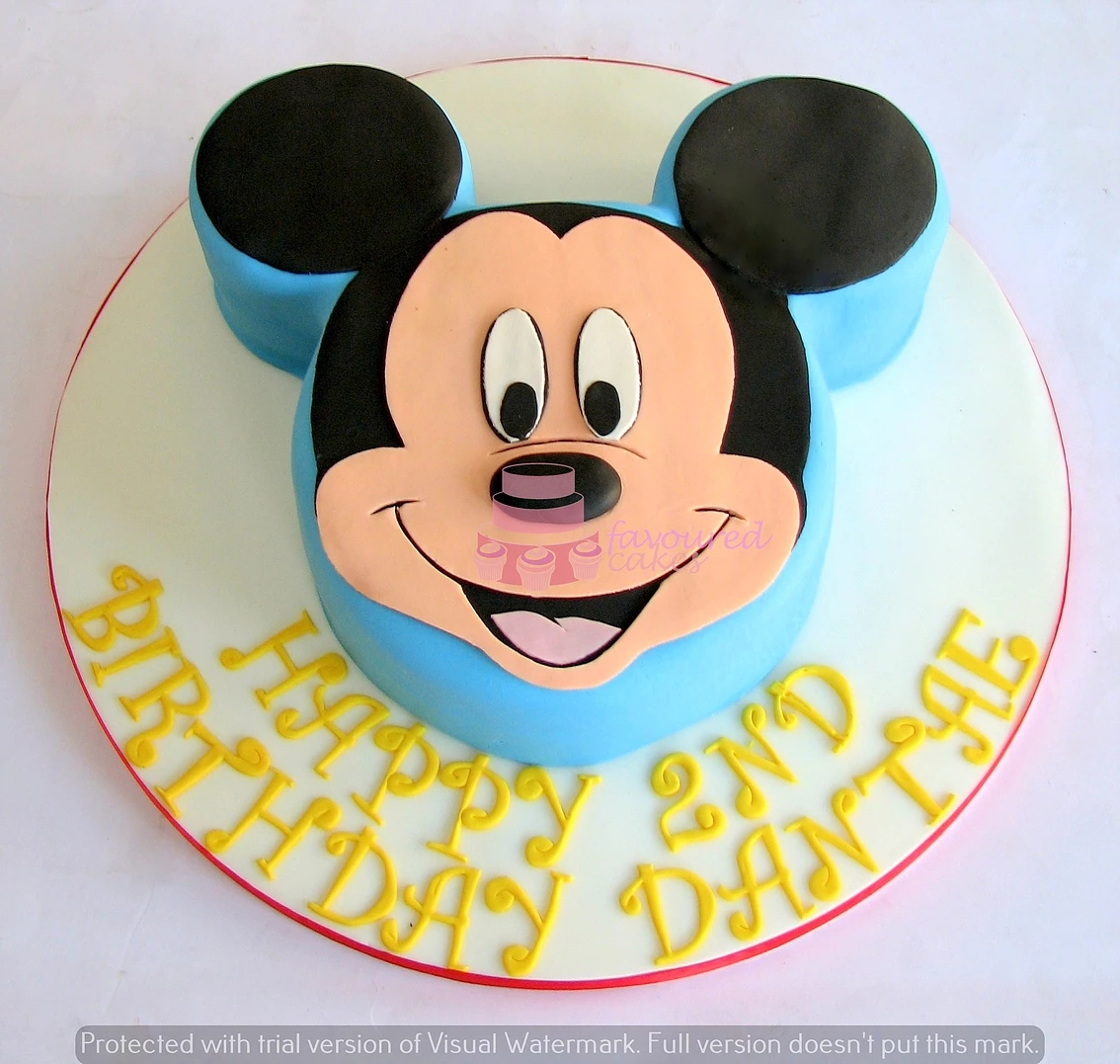 Mickey Mouse Face Cake MK01