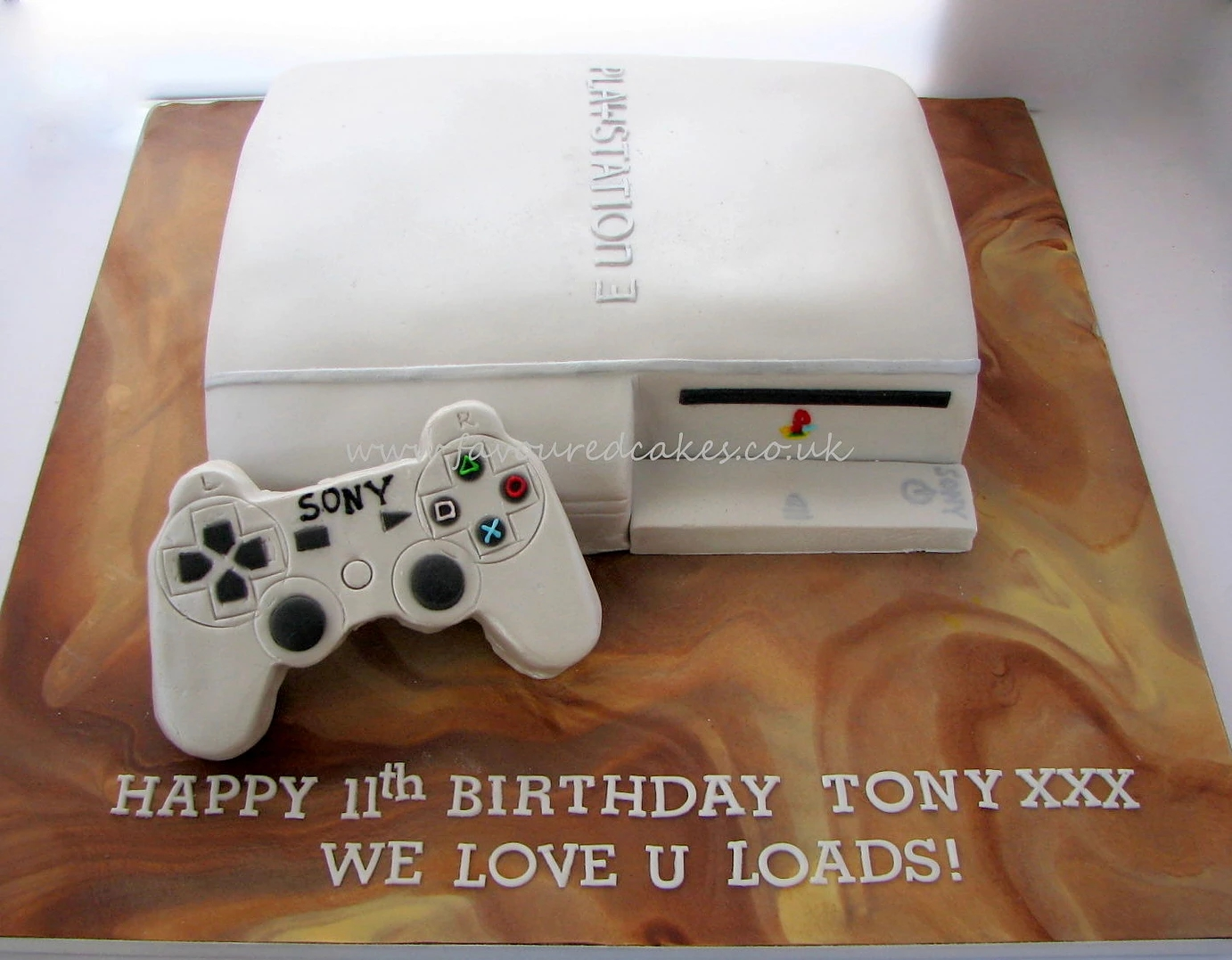 Playstation Cake - Silver PS01