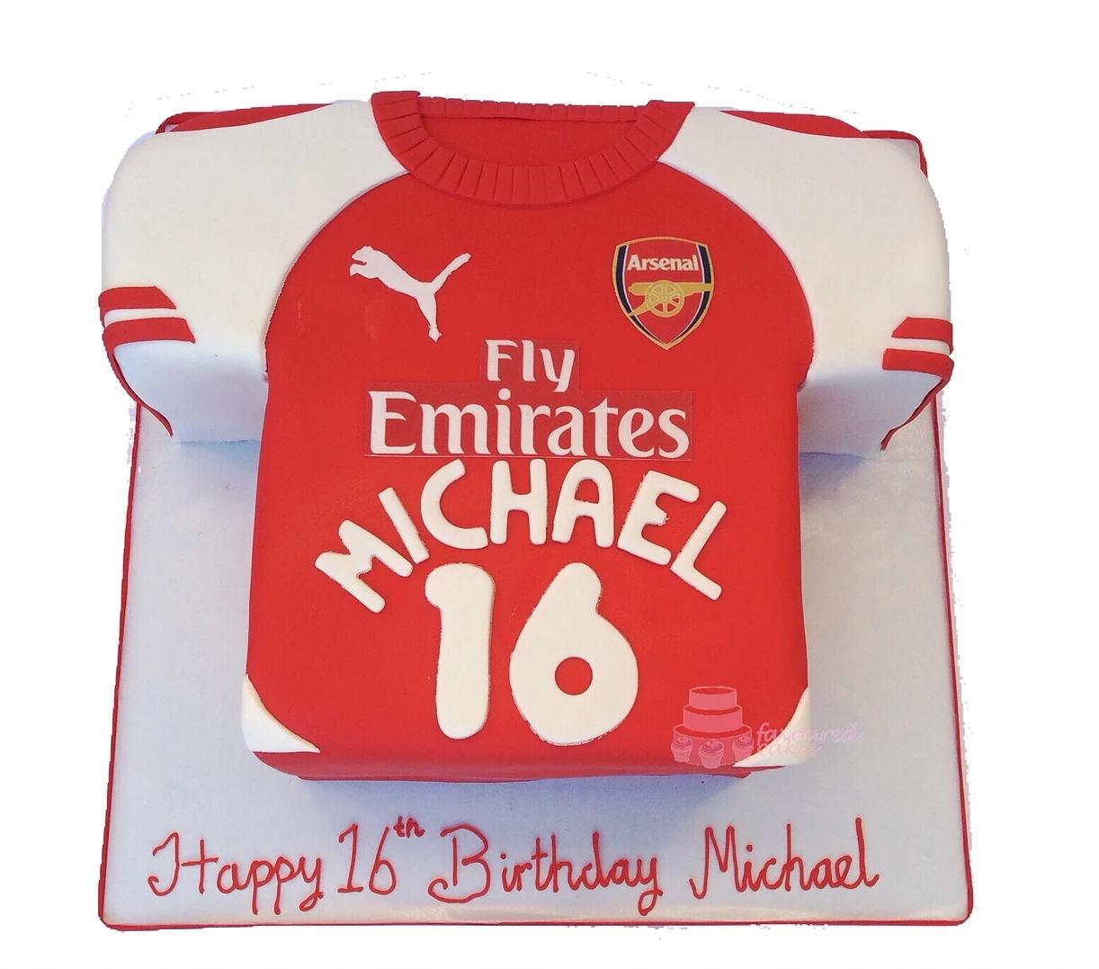 Arsenal Football T-Shirt Cake FBS01