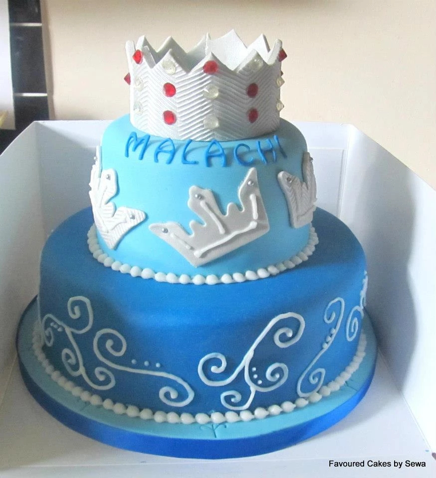 Two Tier Crown Cake