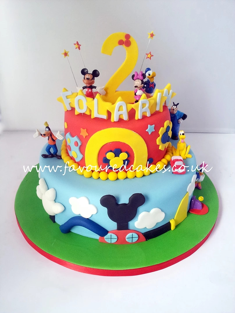 2 Tier Mickey Mouse Clubhouse Cake