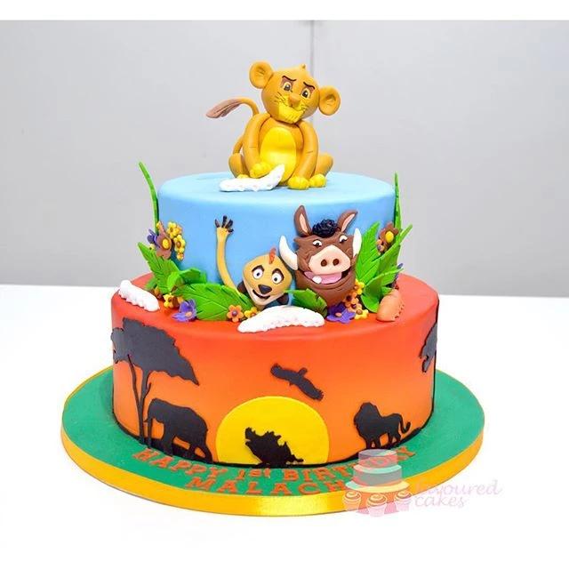 Lion King Simba cake
