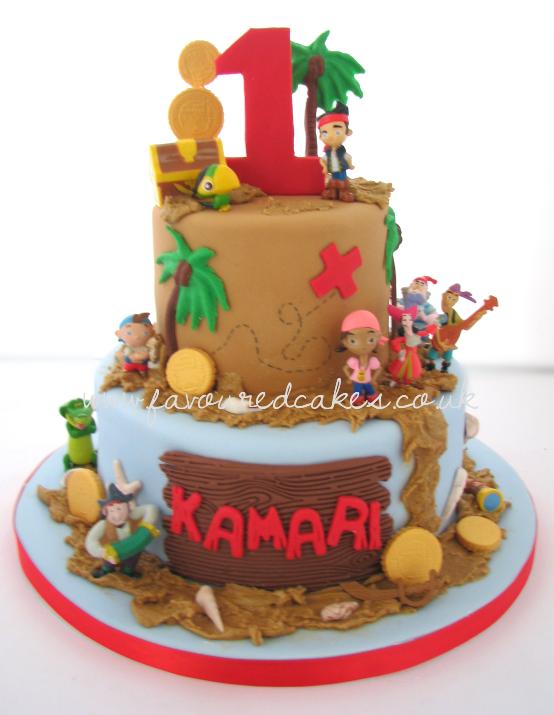Jake & Neverland Pirates Cake JK01