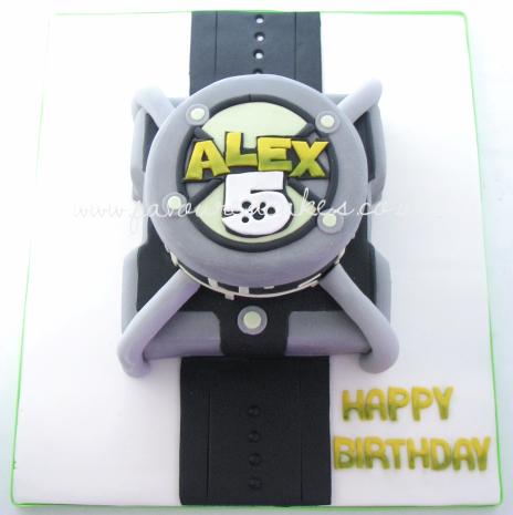 Ben 10 Omnitrix Watch Cake B10