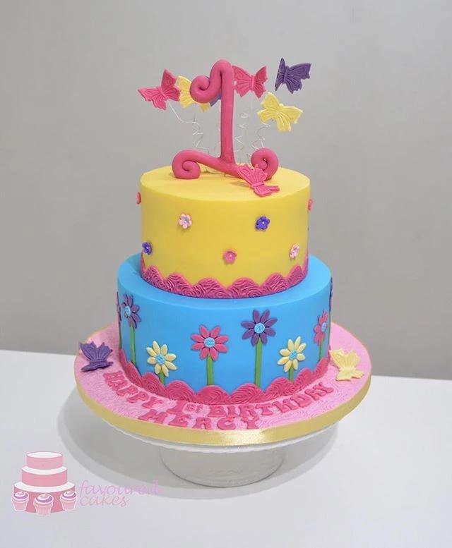 Multi Colour Daisy Cake