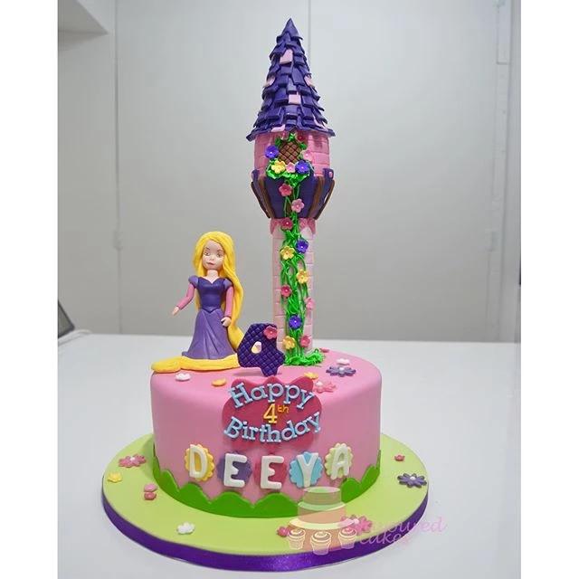 Princess Rapunzel Tower cake PR08