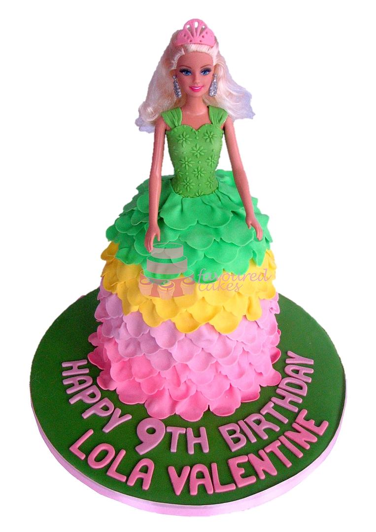 Princess Barbie Doll Cake PR04