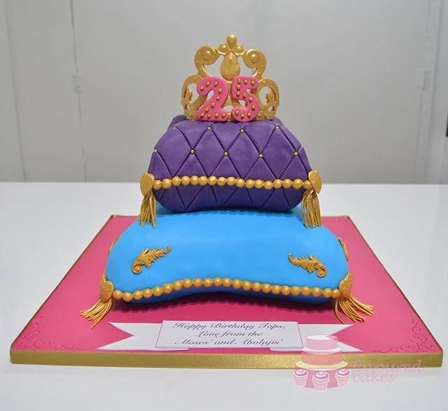 Royal Cushion Tiara Cake