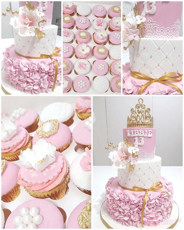 Frills and Tiara Cake