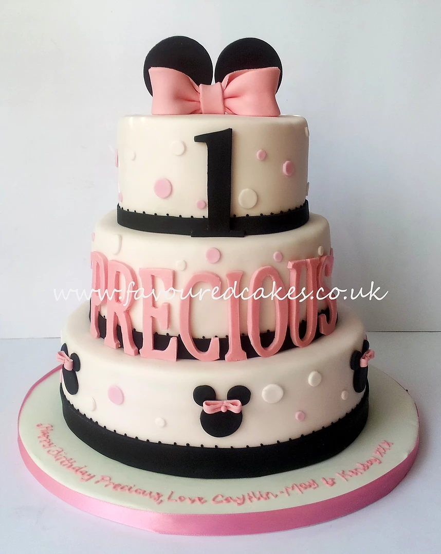 3 Tier Minnie Mouse Cake MM03