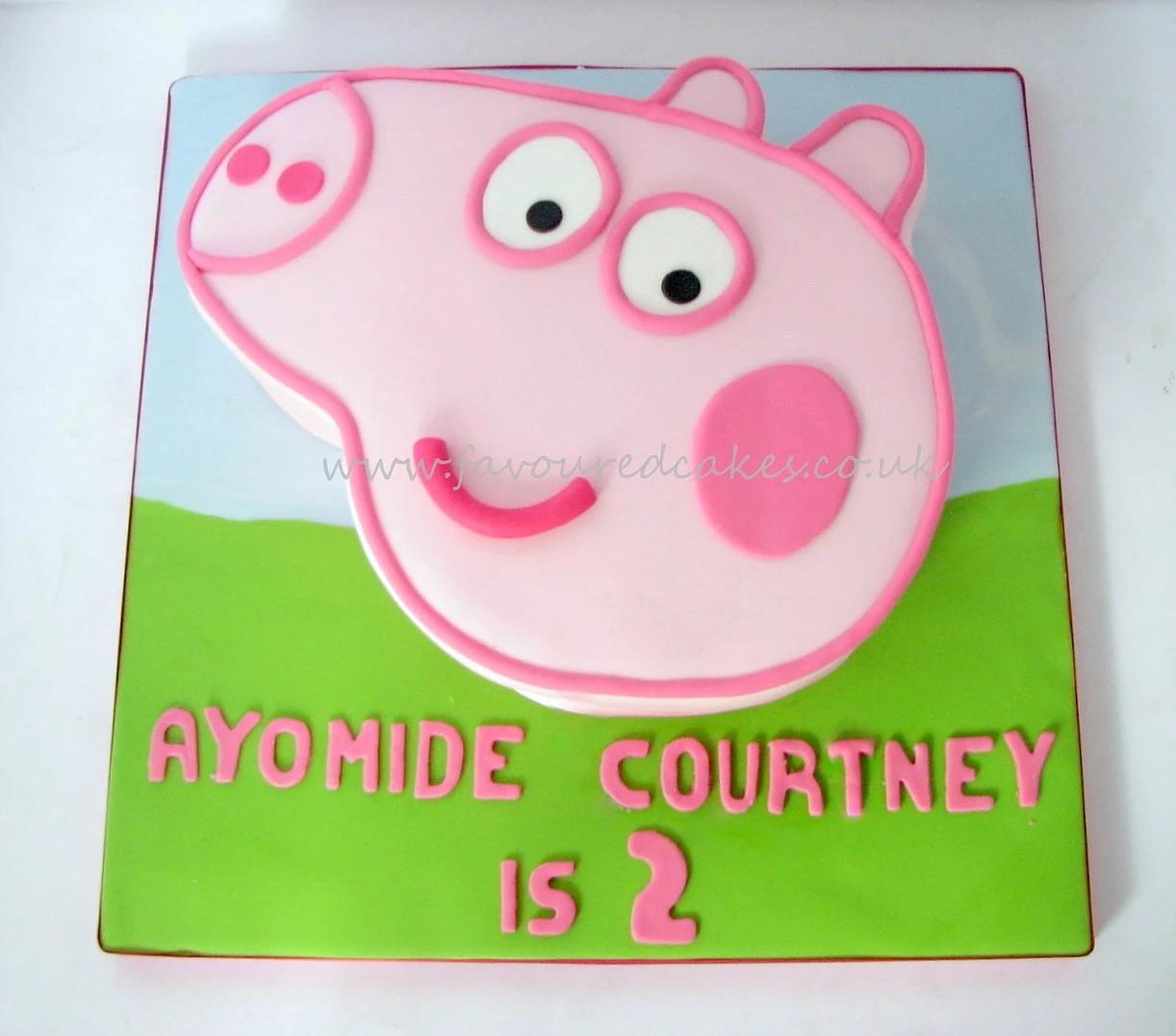 Peppa Pig Face Cake PP03