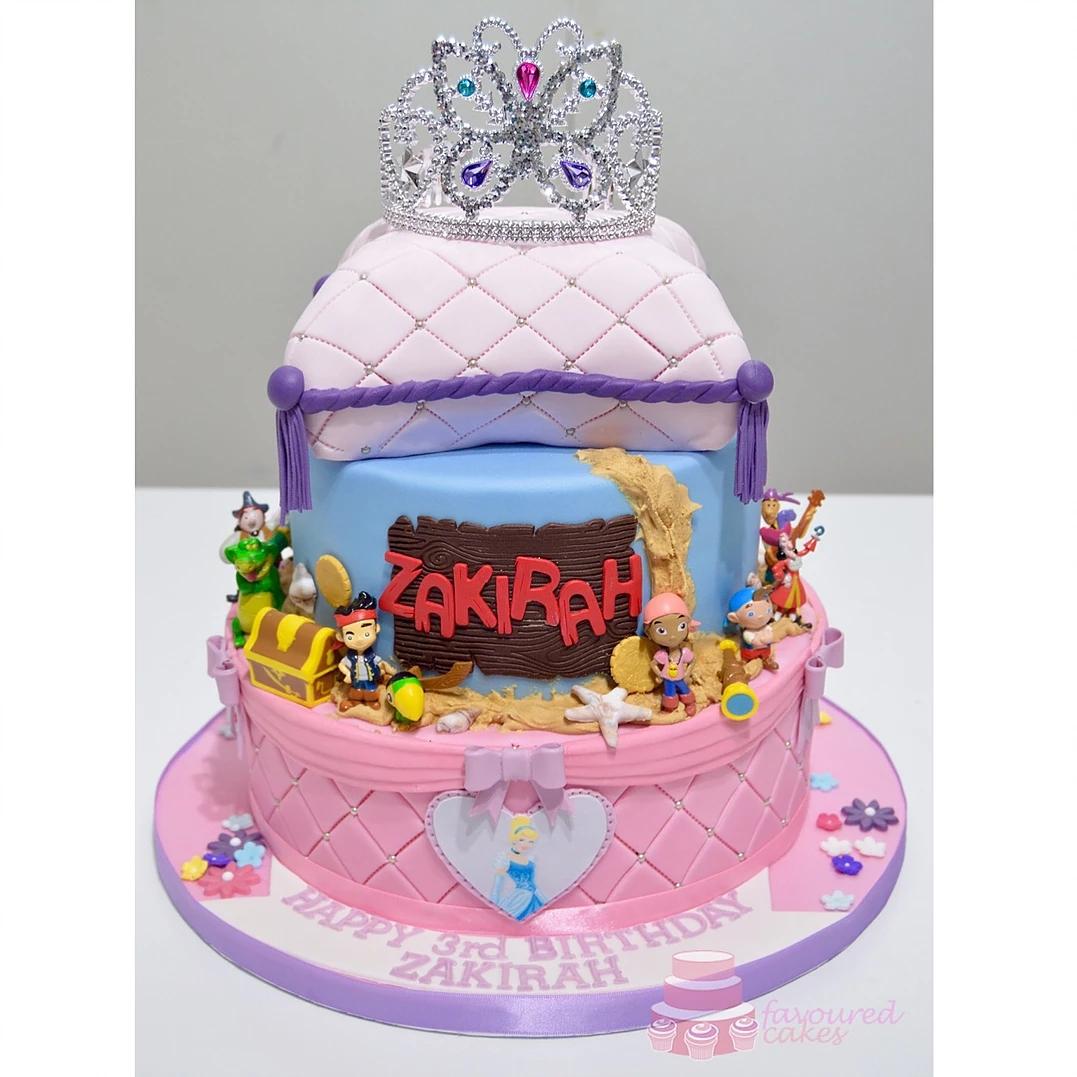 Princess & Pirates Cake