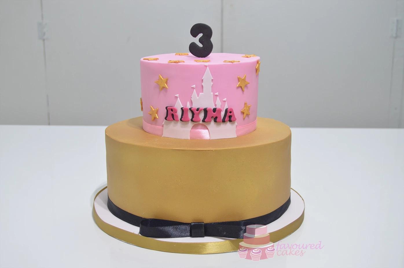 Disney Castle Cake