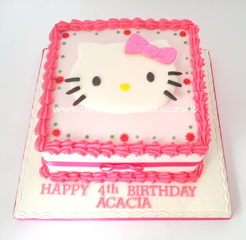 Hello Kitty Square Cake HK04