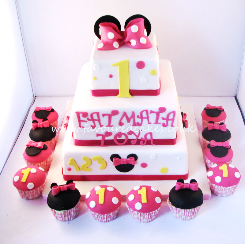 3 Tier Minnie Mouse Cake MM01