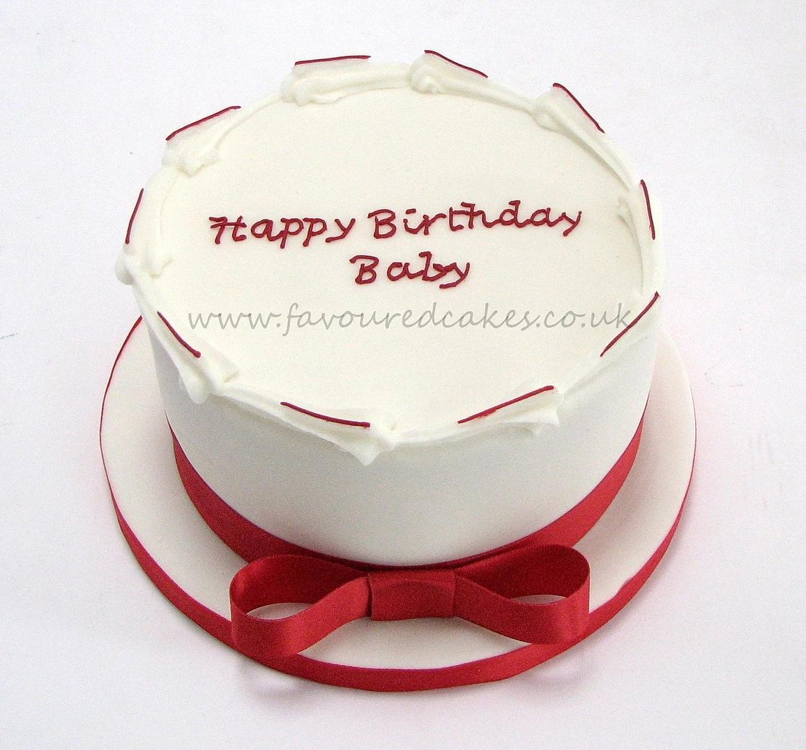 Simple Iced Birthday Cake