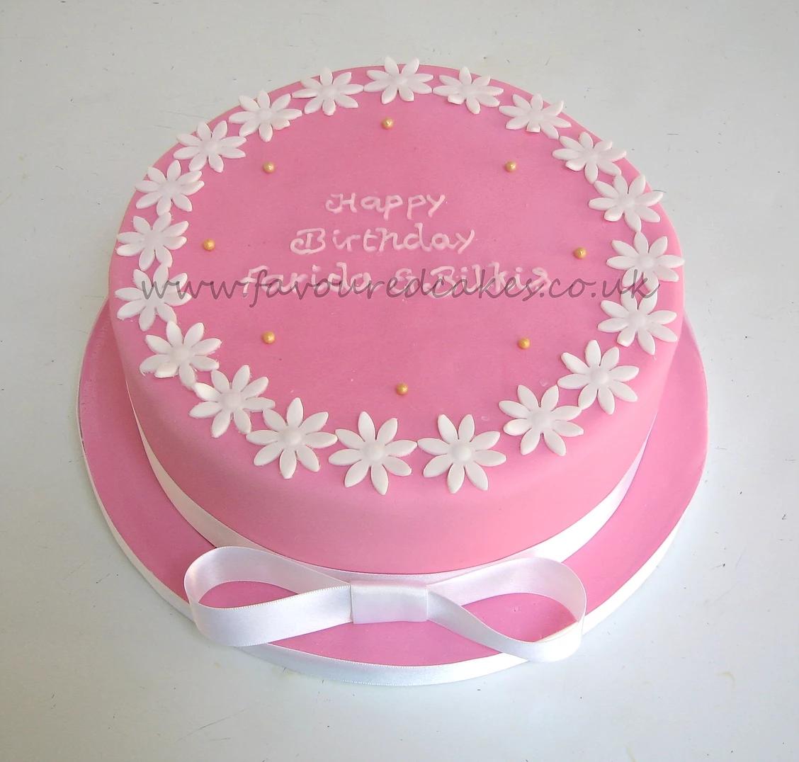 Daisy Border Cake