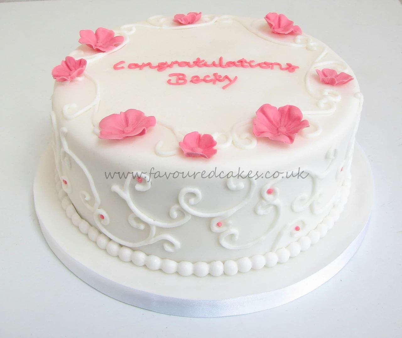Blossoms and Scrolls Cake
