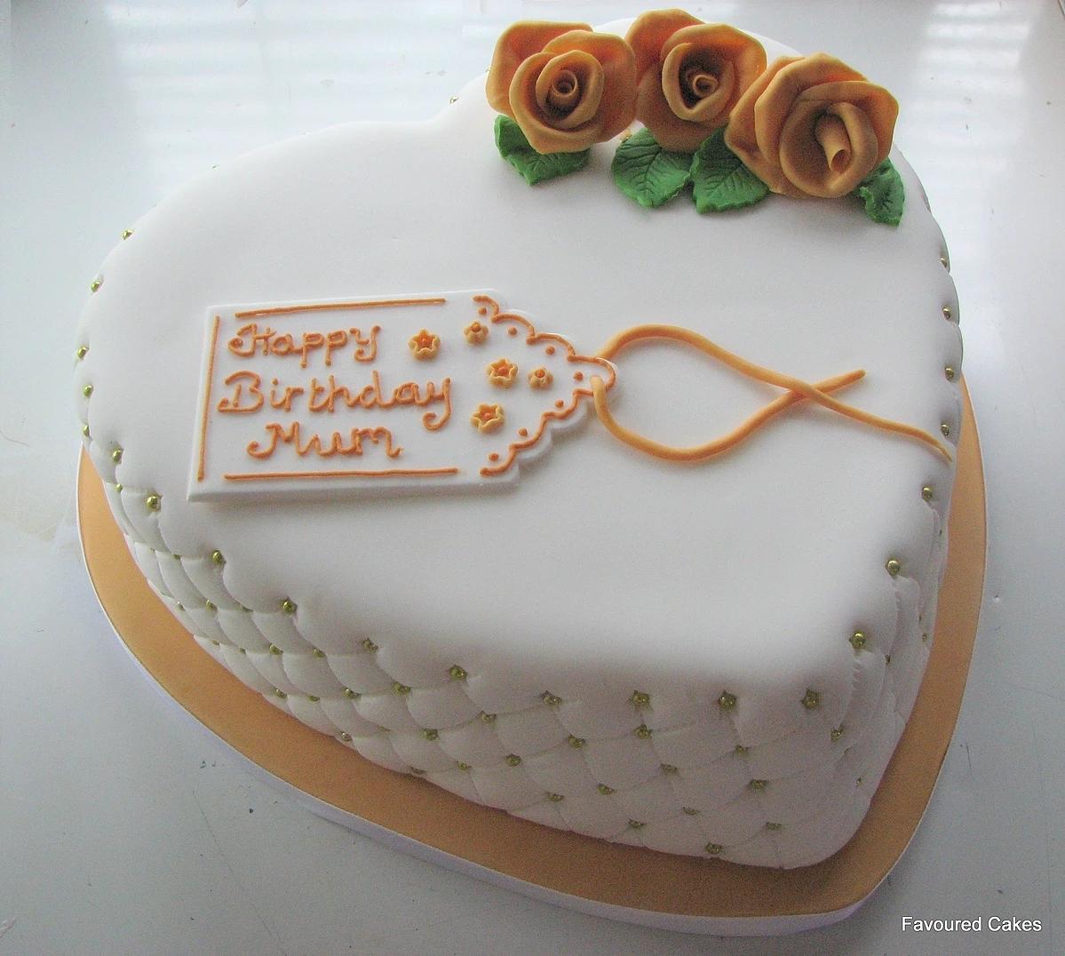 Heart & Mini Diamond Studded Cake