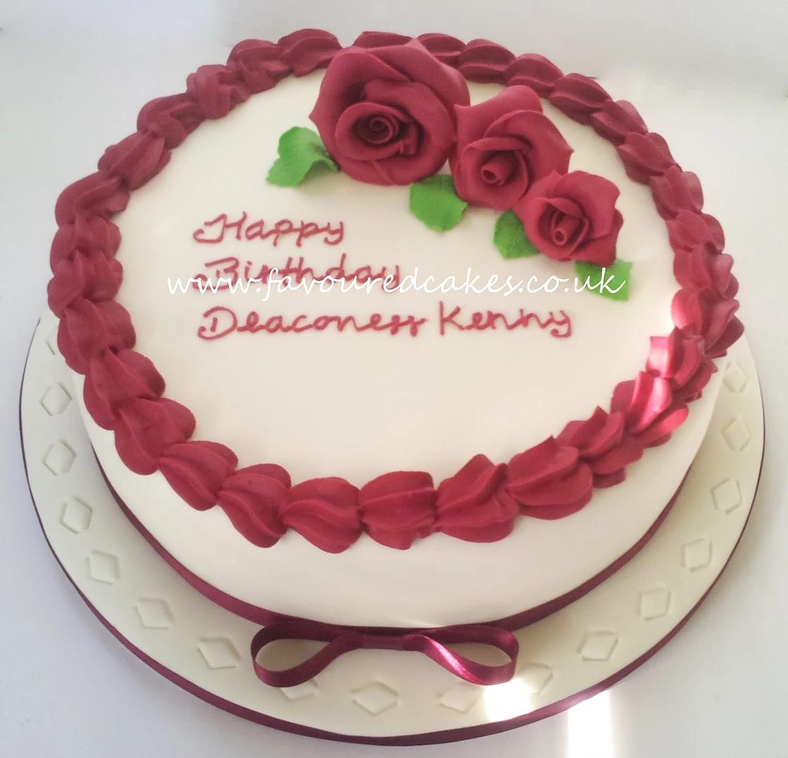 Three Rose Cake