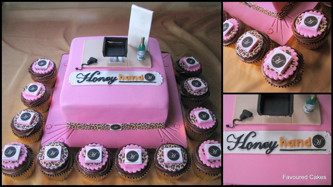 Honey Hand Salon Cake & Cupcakes