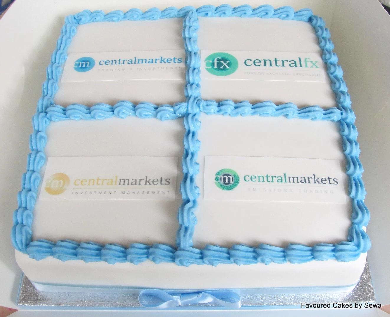 Central Markets Logo Cake