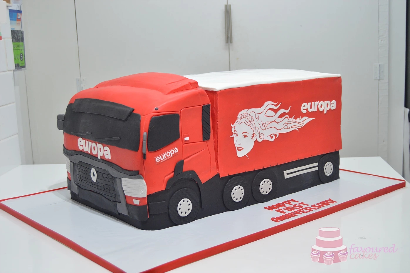 Europa Corporate Truck Cake