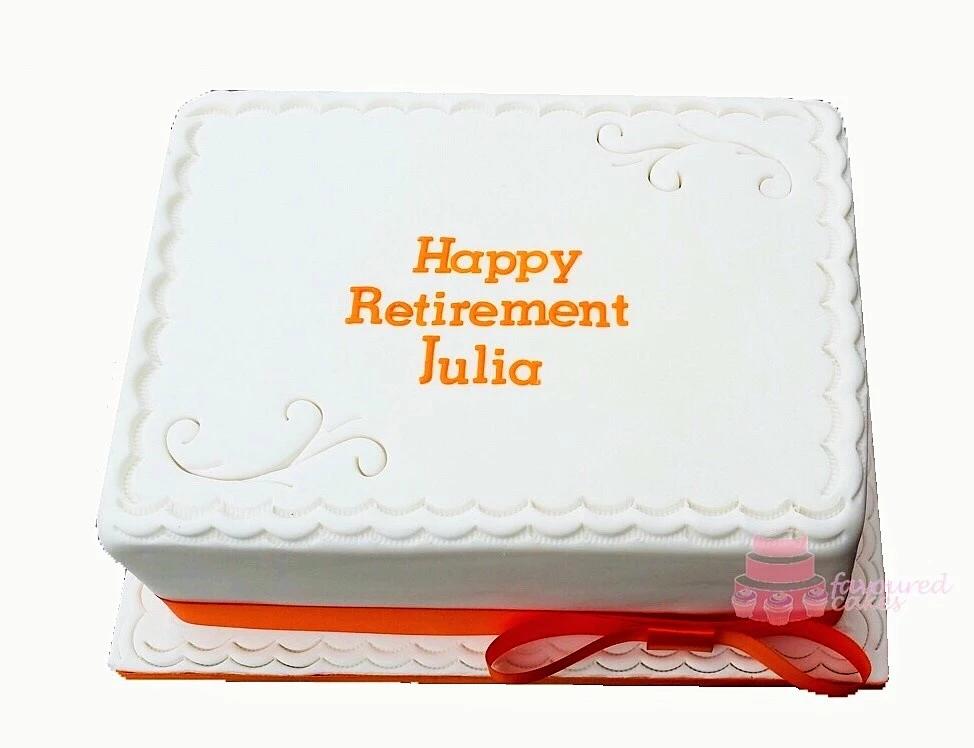 Sainsbury's Staff Retirement Cake