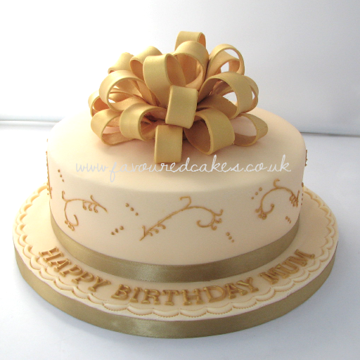 Looped bow cake