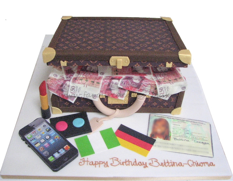 Louis Vuitton Suitcase cake LV01