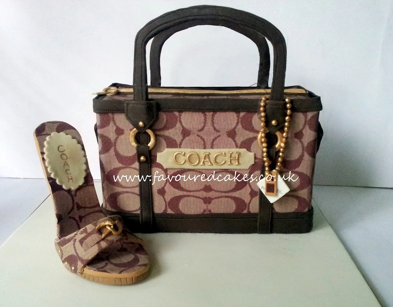 Coach Shoe and Bag Cake Coach Shoe and Bag Cake