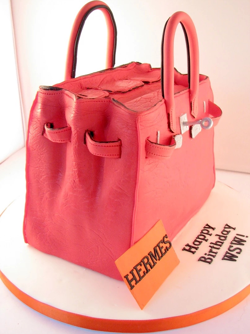 Red Hermes Bag Cake BC06 Red Hermes Bag Cake BC06