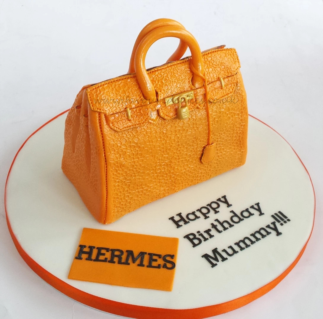 Orange Hermes Bag Cake BC01