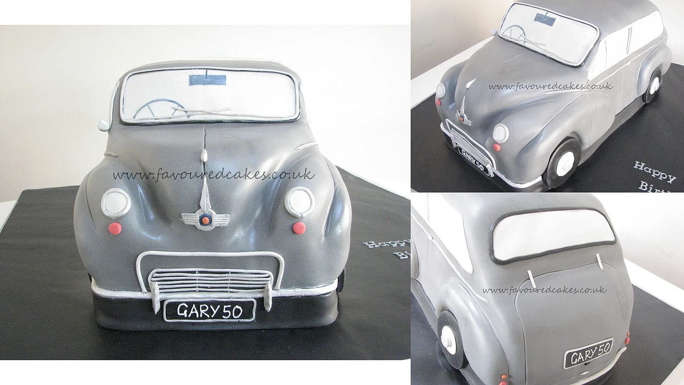 Morris Minor Car Cake CC02