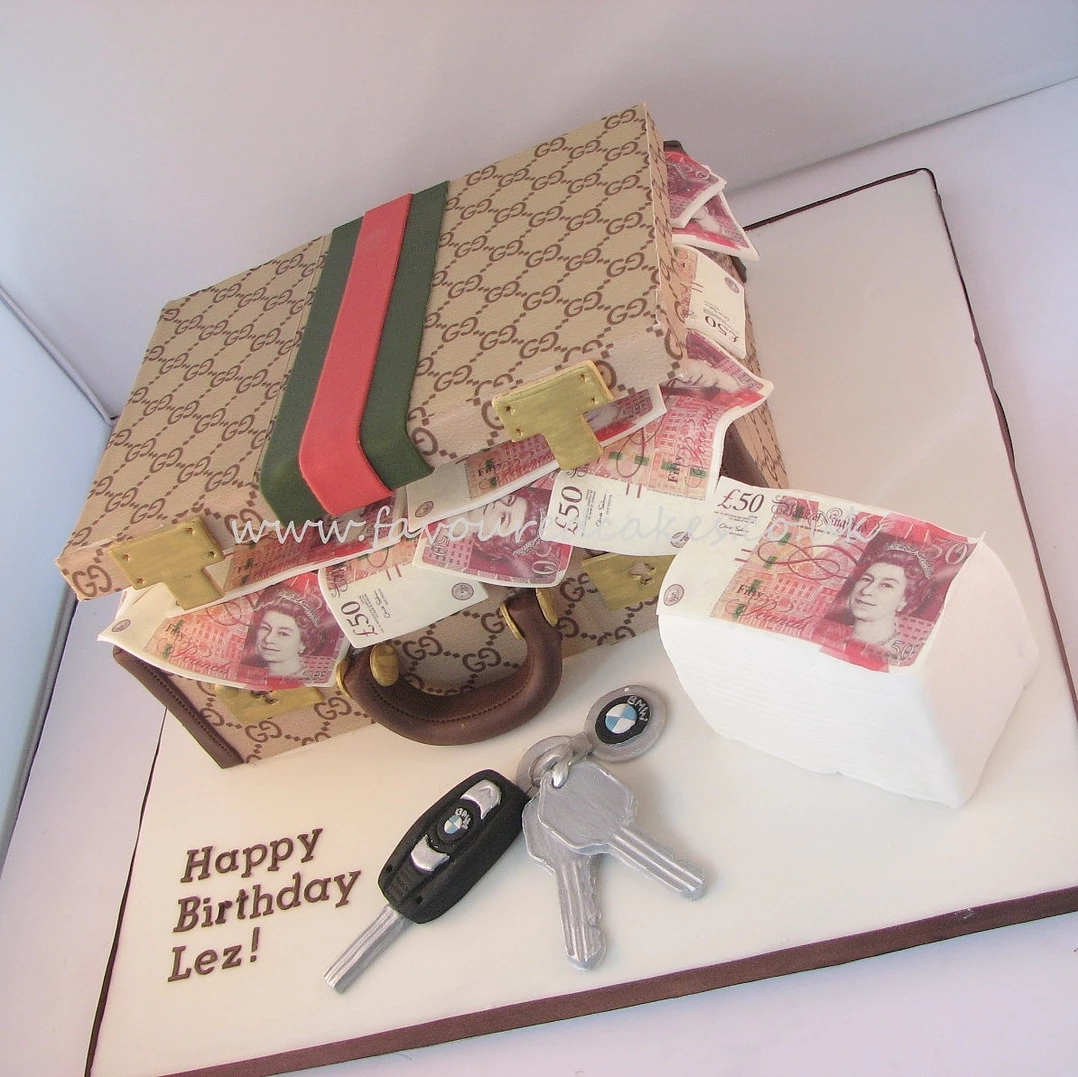 Gucci Suitcase & Money Cake GU01