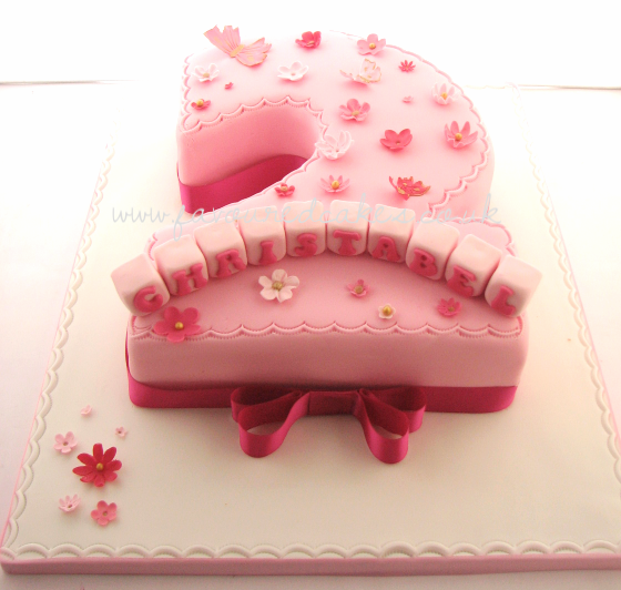 Pretty in Pink Number 2 Cake