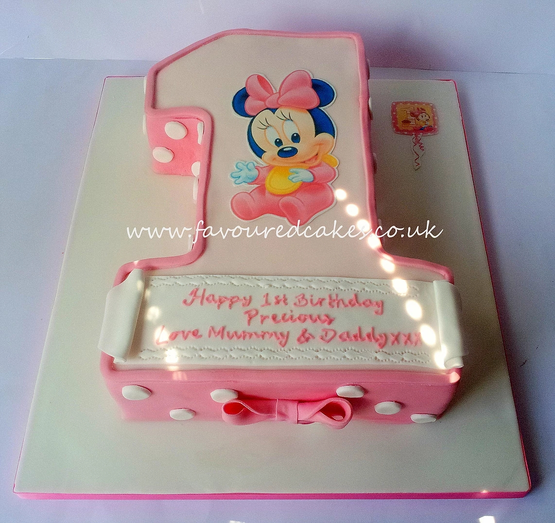 Number 1 Baby Minnie Mouse Cake
