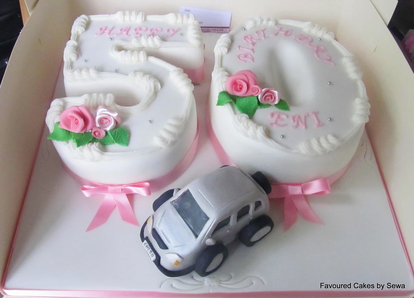Number 50 and Jeep 4x4 Cake
