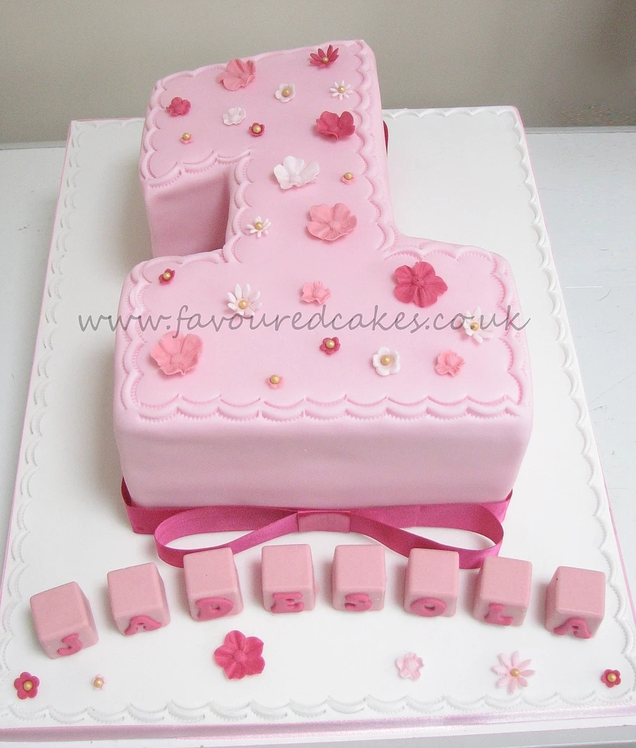 Pretty in pink Number 1 cake