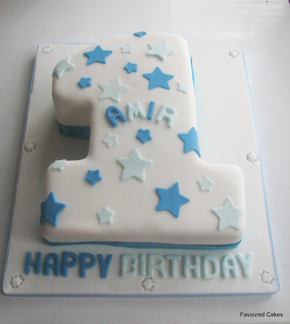 Number 1 Stars Cake