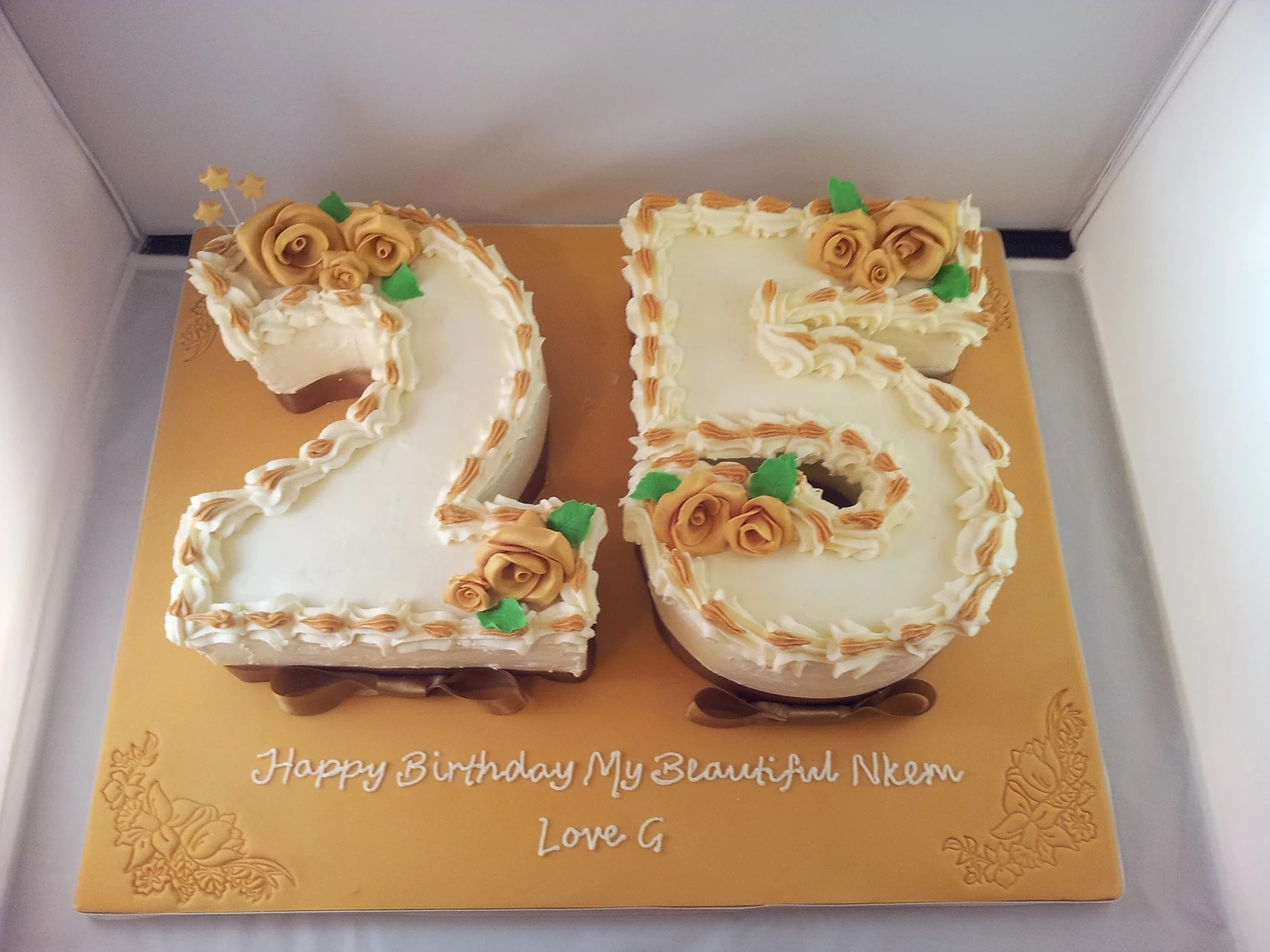25th Birthday Number Cake