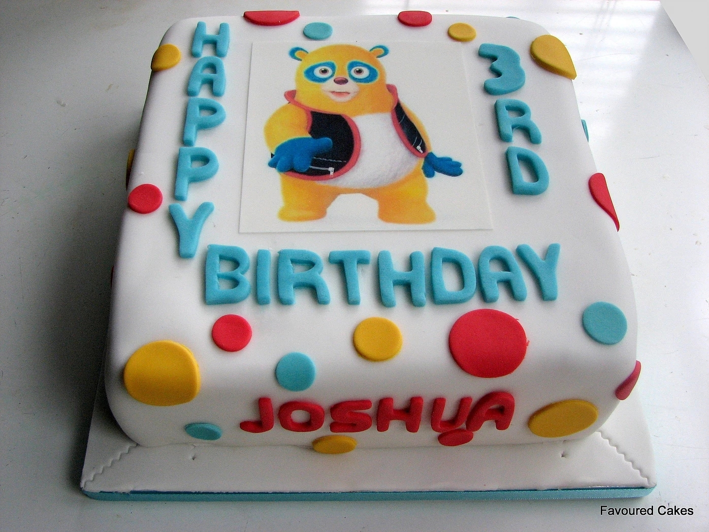 Special Agent Oso Picture Cake