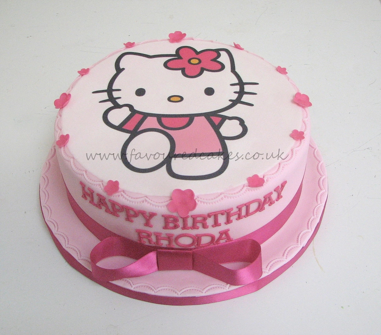 Hello kitty & blossoms picture cake