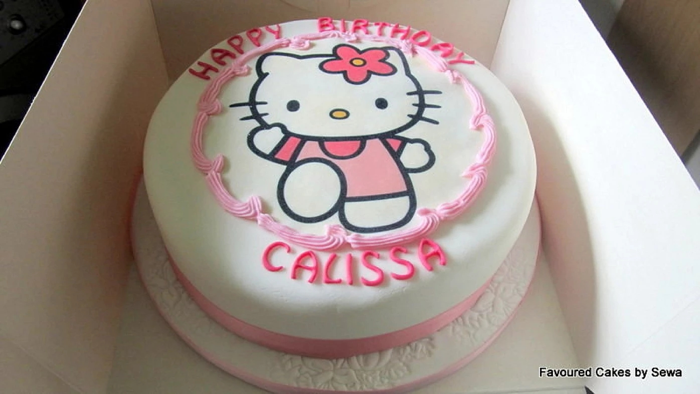 Hello Kitty Picture Cake