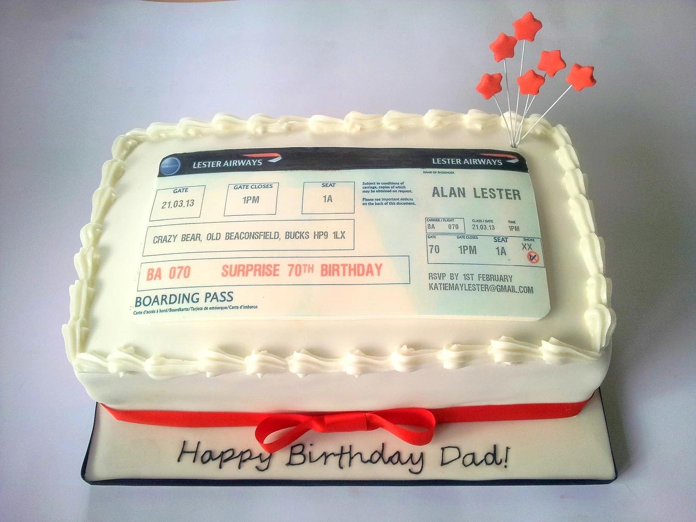 Bespoke Picture Invite Cake