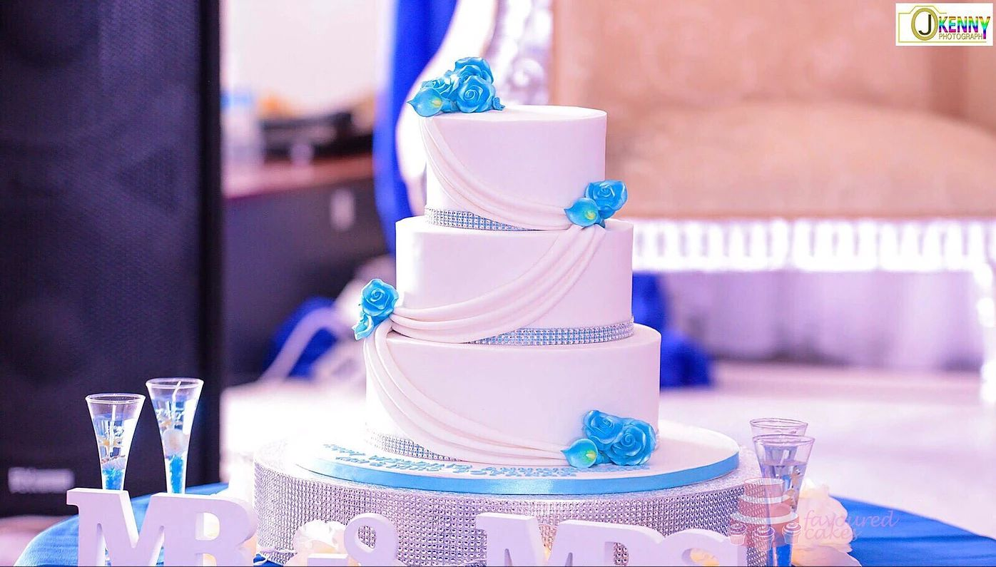 Draped Wedding Cake