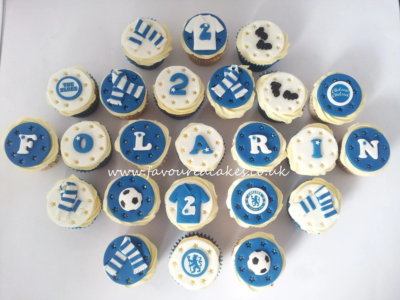 Chelsea Football Cupcakes