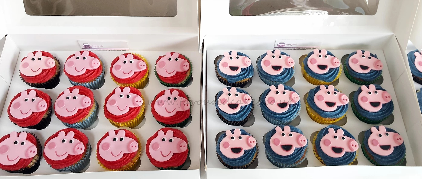 Peppa and George Pig Cupcakes