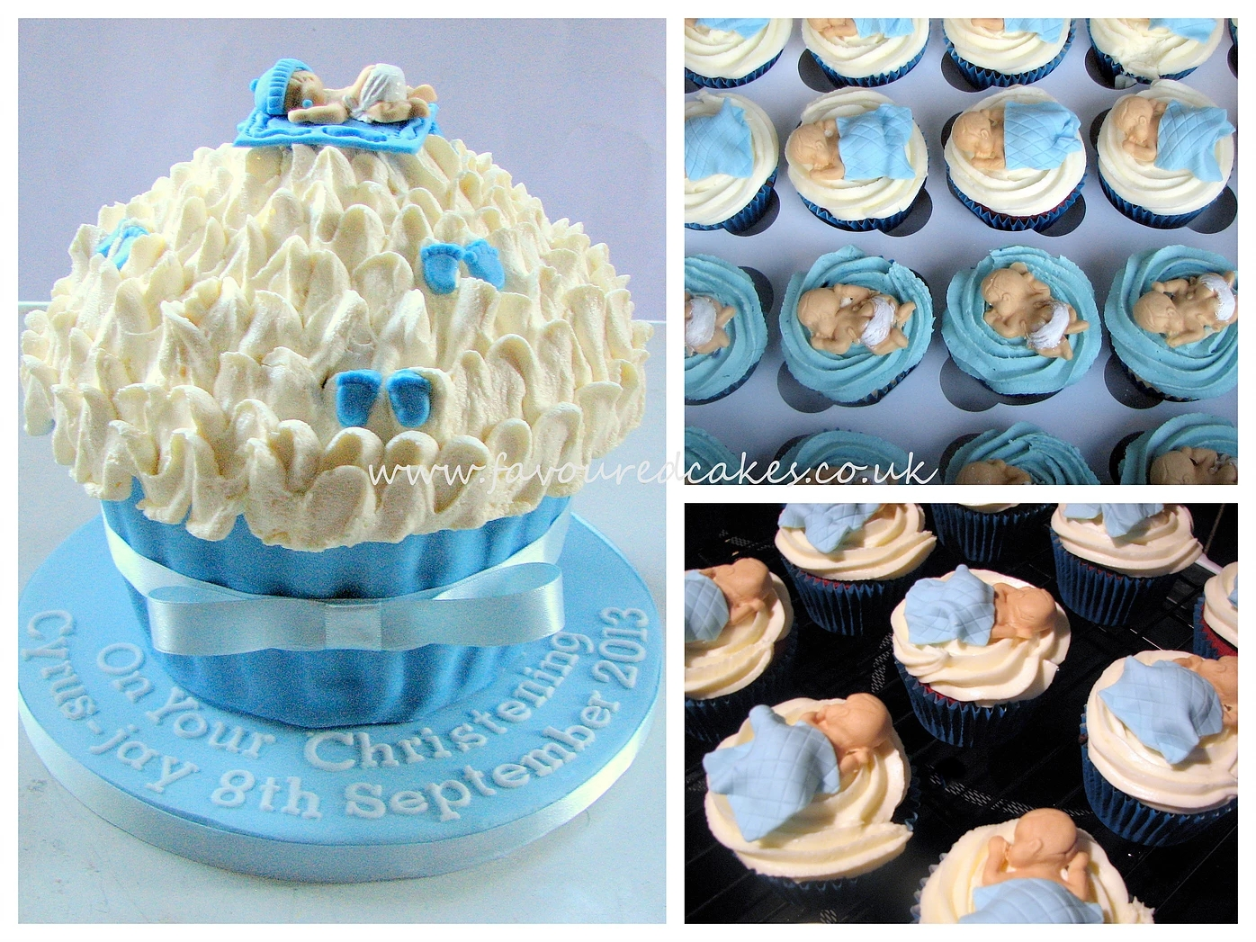 Baby Christening Giant Cupcake