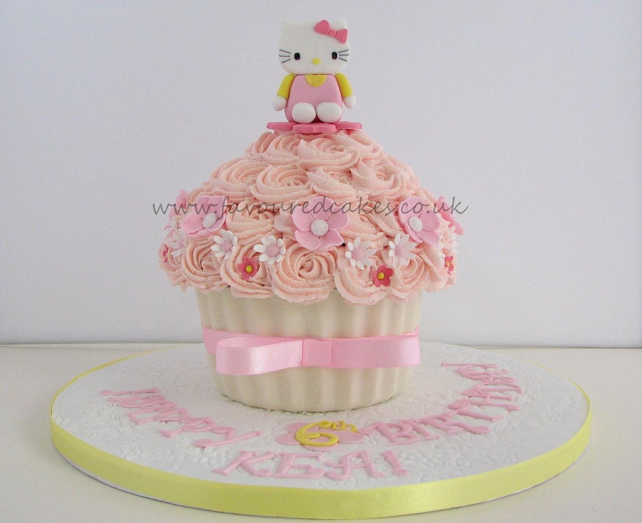 Giant Hello Kitty Cupcake
